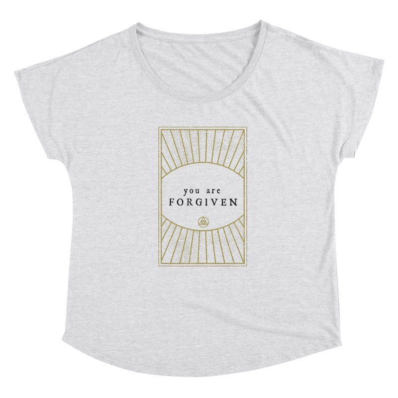 You are forgiven Women's Scoop Neck by Os Frontis
