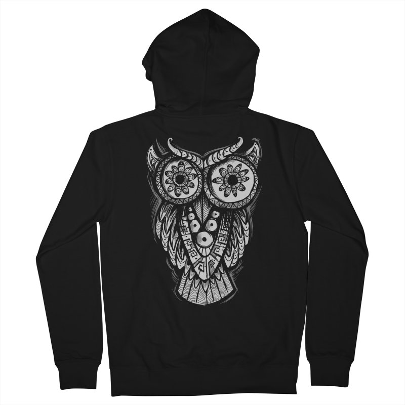 Owl Shaman Men's Zip-Up Hoody by Os Frontis