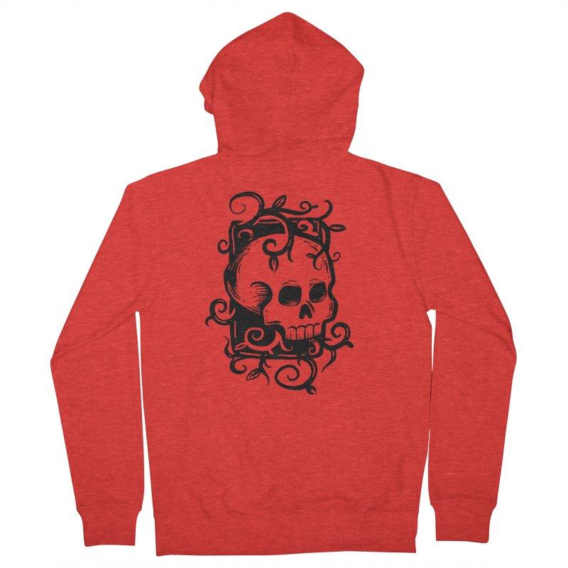 Retro Skull Men's Zip-Up Hoody by Os Frontis