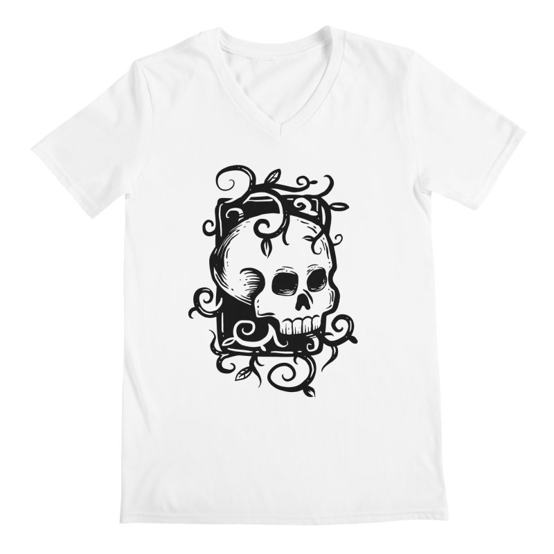 Retro Skull Men's V-Neck by Os Frontis