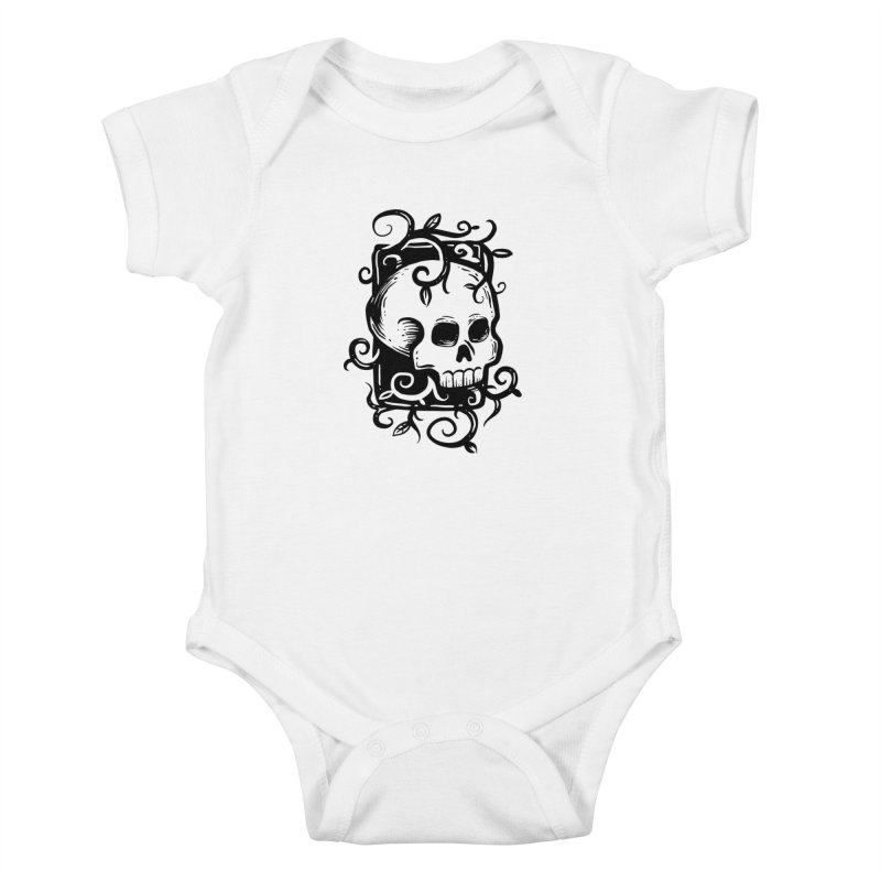 Retro Skull Kids Baby Bodysuit by Os Frontis