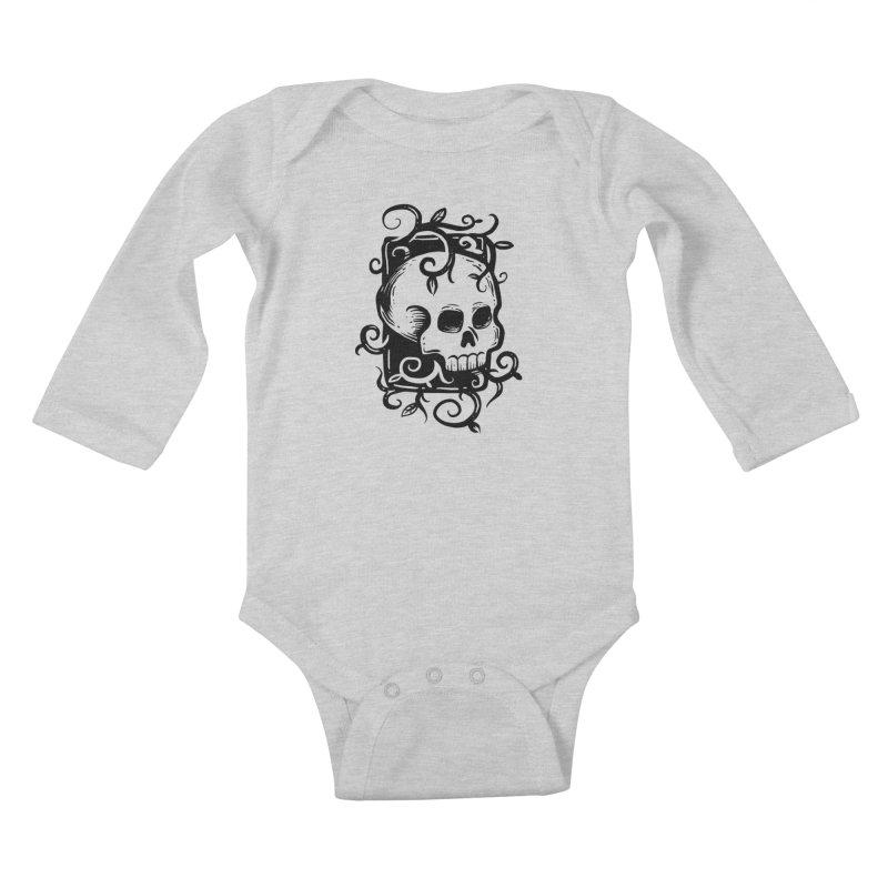 Retro Skull Kids Baby Longsleeve Bodysuit by Os Frontis