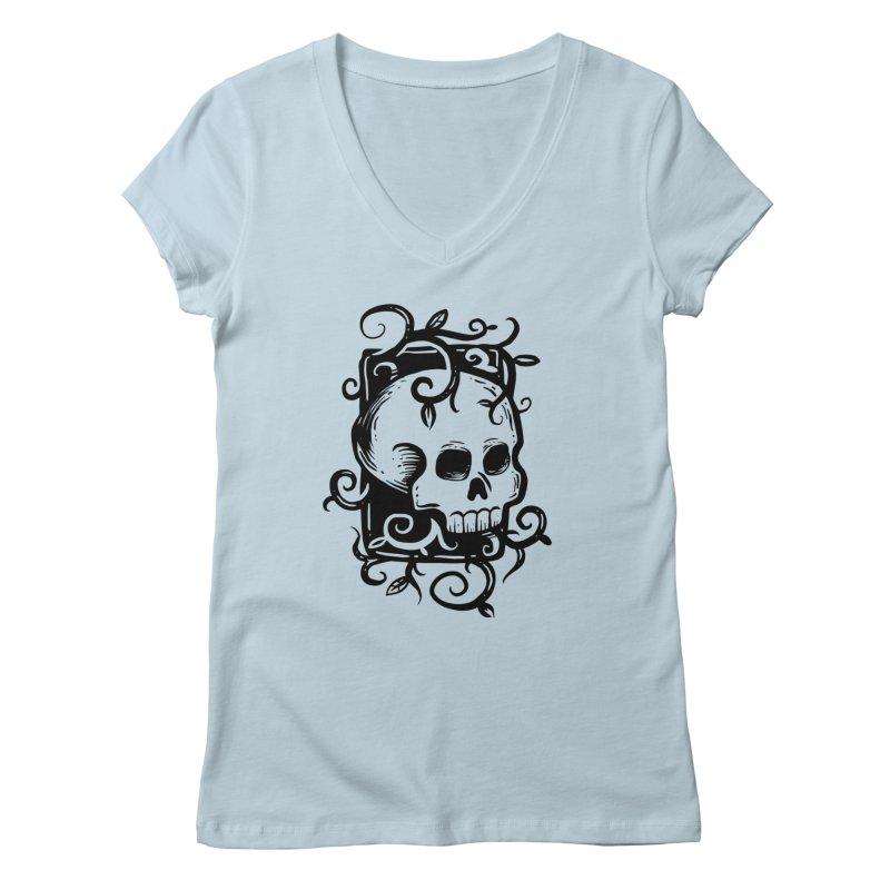 Retro Skull Women's V-Neck by Os Frontis