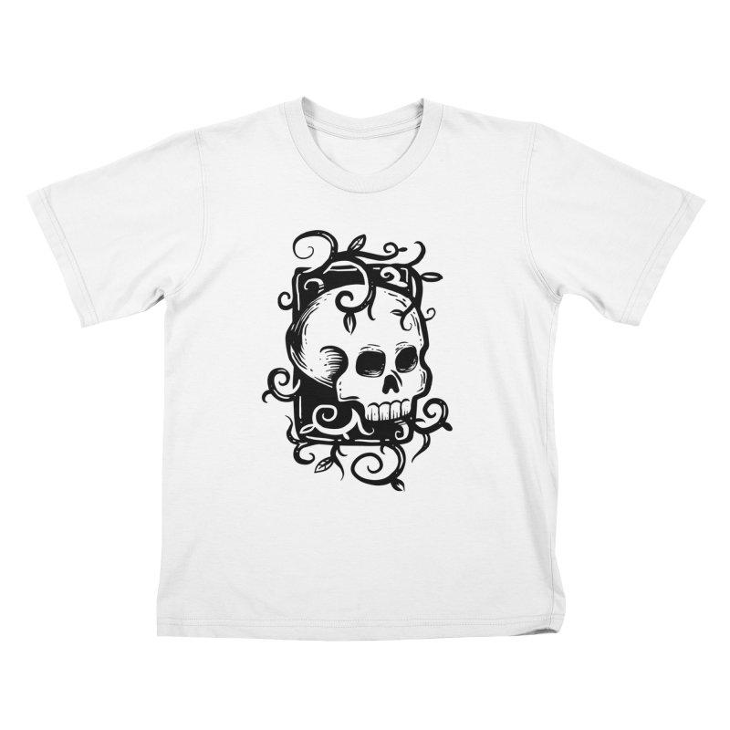 Retro Skull Kids T-Shirt by Os Frontis