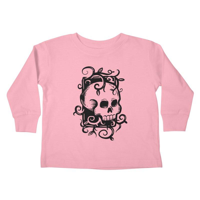 Retro Skull Kids Toddler Longsleeve T-Shirt by Os Frontis