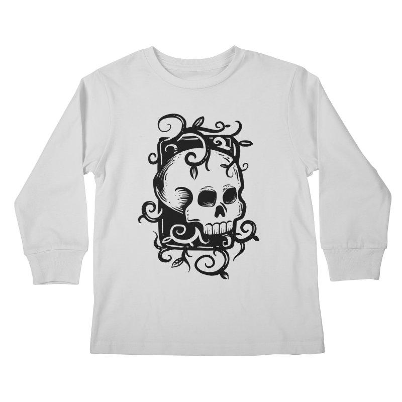 Retro Skull Kids Longsleeve T-Shirt by Os Frontis