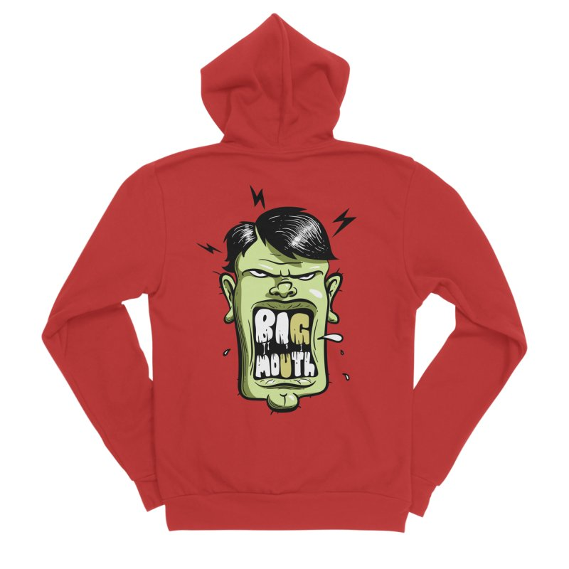 Big Mouth Men's Zip-Up Hoody by Os Frontis