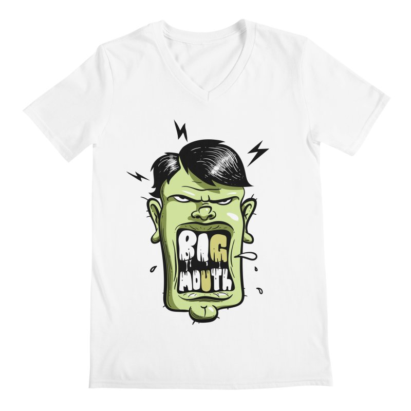 Big Mouth Men's V-Neck by Os Frontis