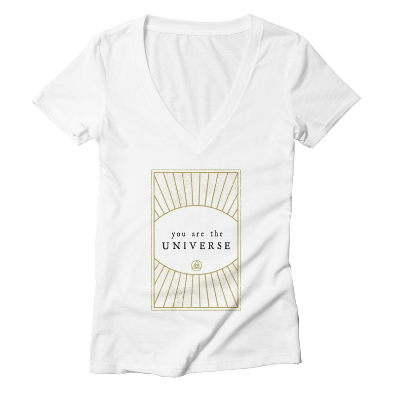 You are the Universe Women's V-Neck by Os Frontis