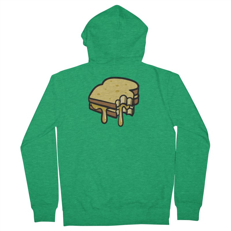 Grilled Cheese Sandwich Men's Zip-Up Hoody by Os Frontis