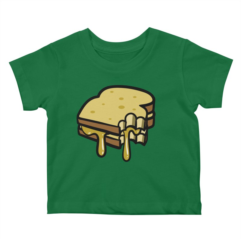 Grilled Cheese Sandwich Kids Baby T-Shirt by Os Frontis