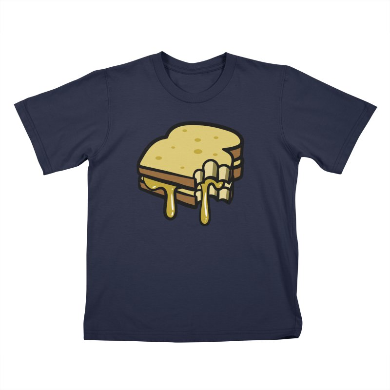 Grilled Cheese Sandwich Kids T-Shirt by Os Frontis