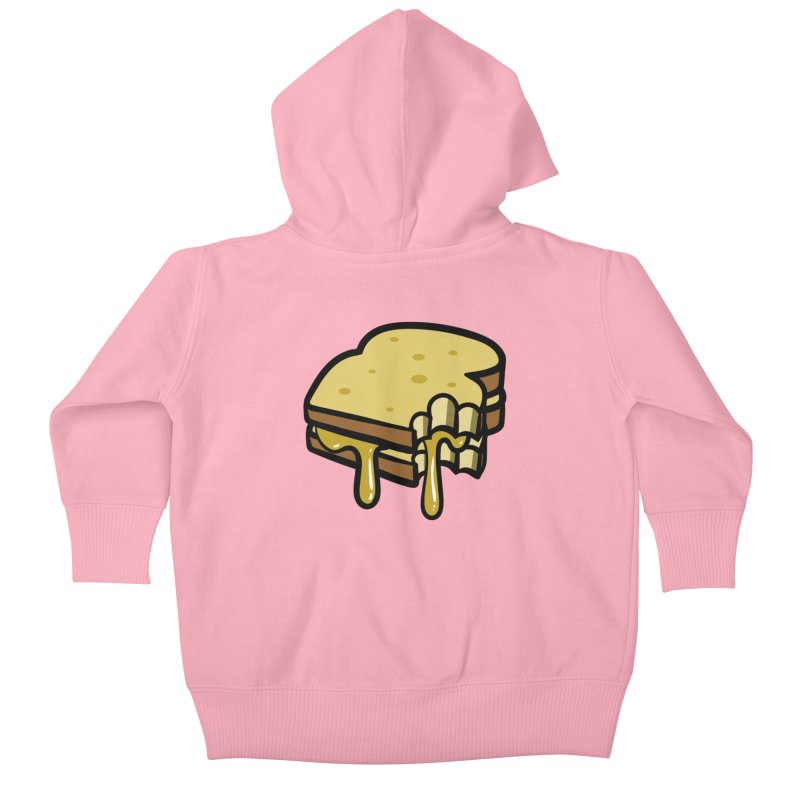 Grilled Cheese Sandwich Kids Baby Zip-Up Hoody by Os Frontis