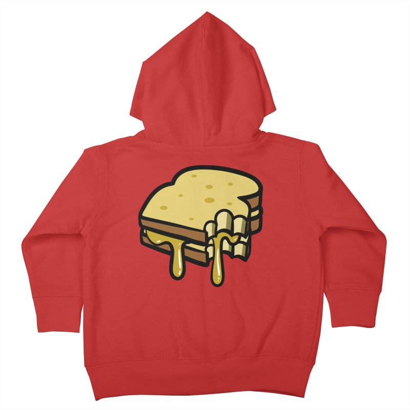 Grilled Cheese Sandwich Kids Toddler Zip-Up Hoody by Os Frontis