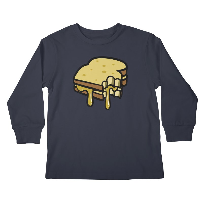 Grilled Cheese Sandwich Kids Longsleeve T-Shirt by Os Frontis