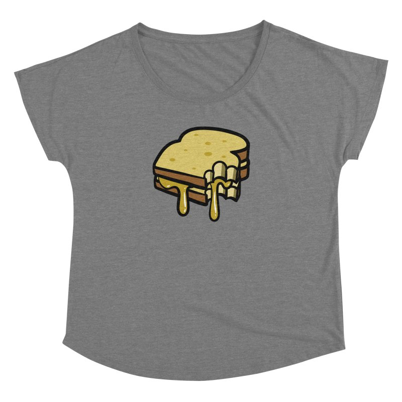 Grilled Cheese Sandwich Women's Scoop Neck by Os Frontis