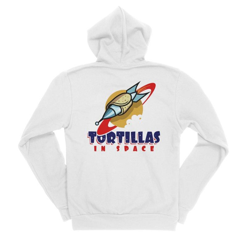 Tortillas in space Women's Zip-Up Hoody by Os Frontis