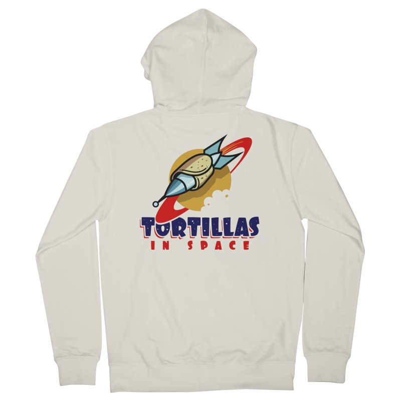 Tortillas in space Men's Zip-Up Hoody by Os Frontis