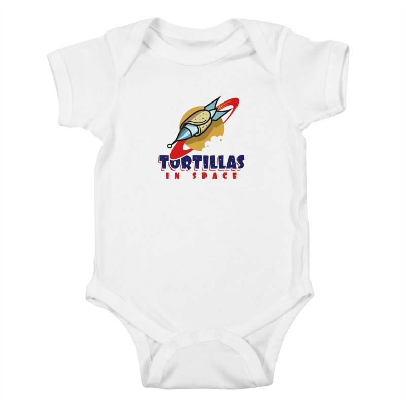Tortillas in space Kids Baby Bodysuit by Os Frontis