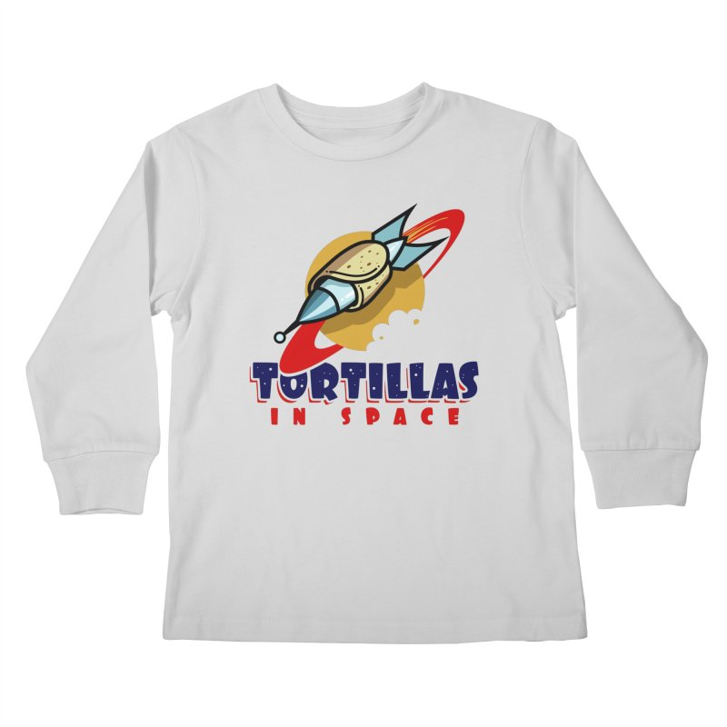 Tortillas in space Kids Longsleeve T-Shirt by Os Frontis