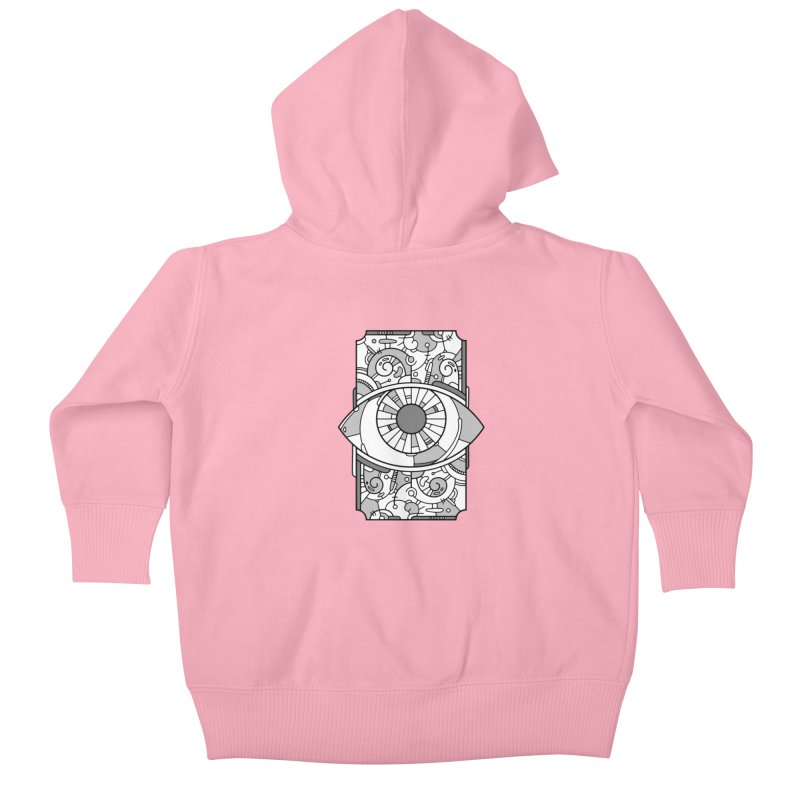 Psychedelic Eye Kids Baby Zip-Up Hoody by Os Frontis