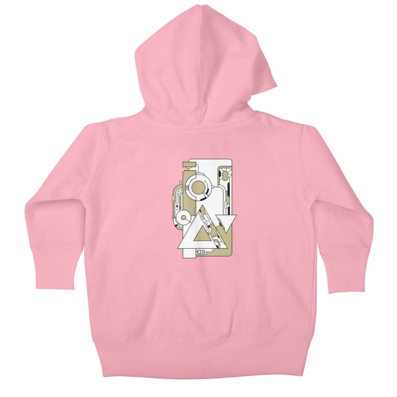 Geometric Abstraction 2 Kids Baby Zip-Up Hoody by Os Frontis