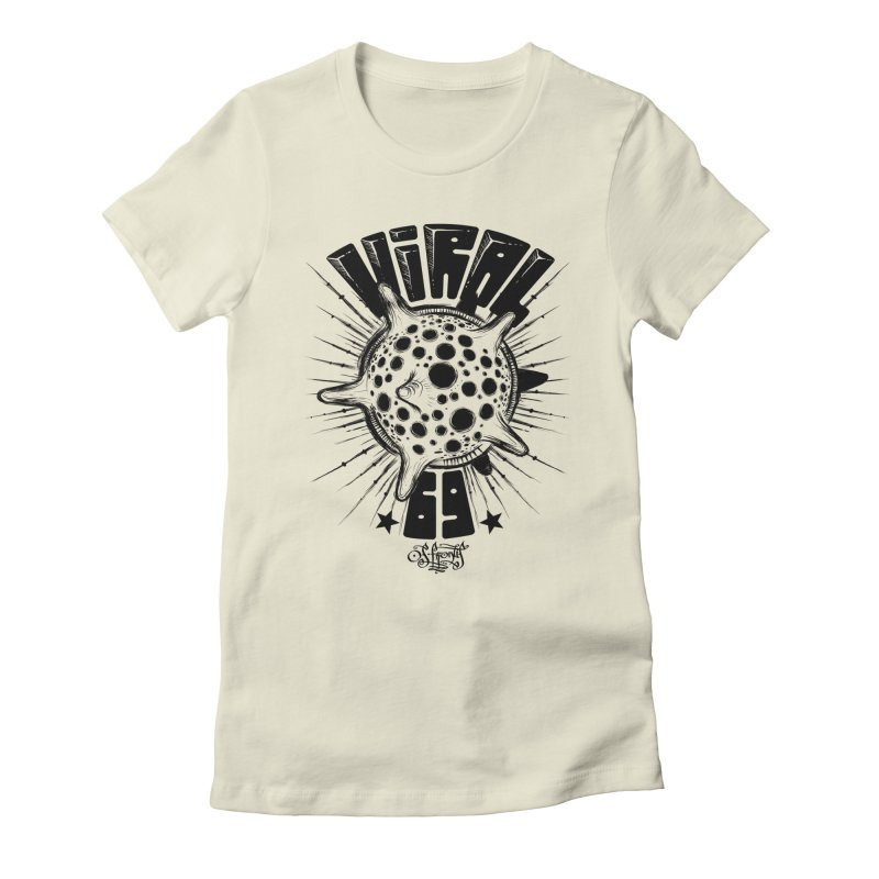 Viral Women's Fitted T-Shirt by Os Frontis