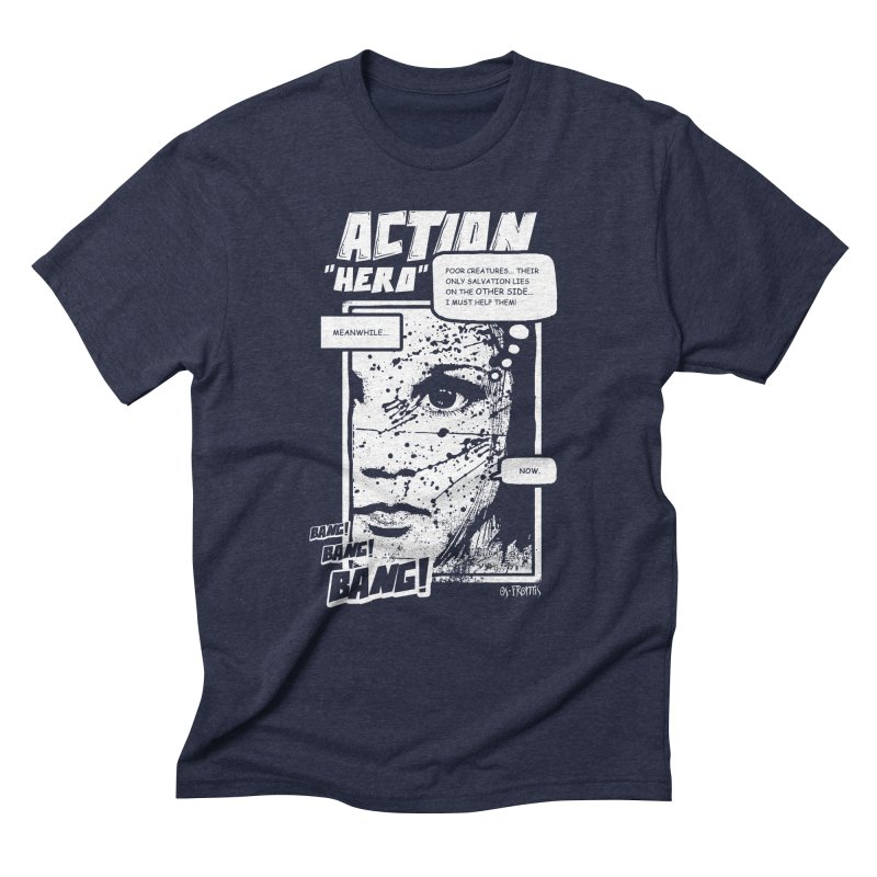 Action Hero Men's Triblend T-shirt by Os Frontis