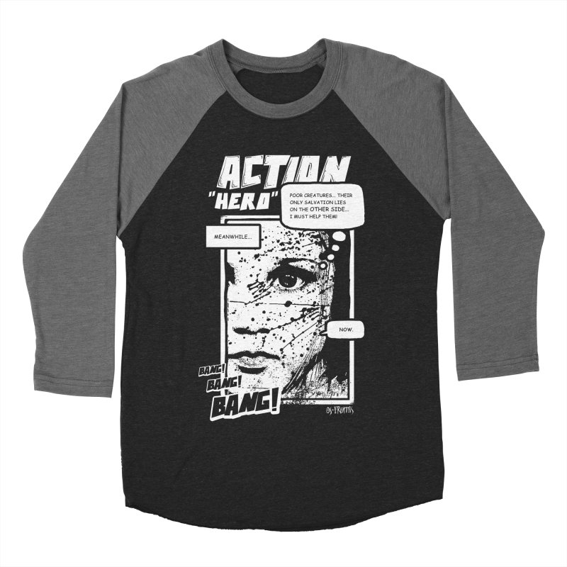 Action Hero Men's Baseball Triblend T-Shirt by Os Frontis