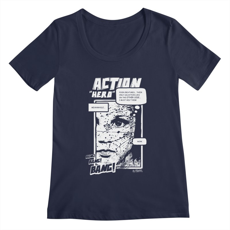 Action Hero Women's Scoopneck by Os Frontis