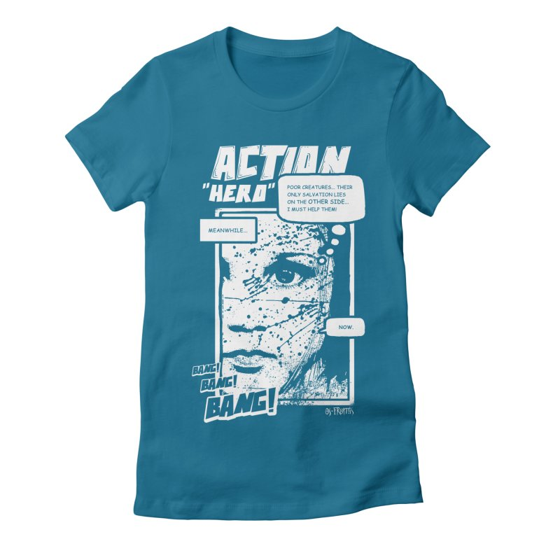 Action Hero Women's Fitted T-Shirt by Os Frontis