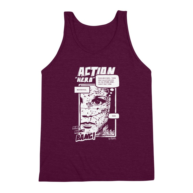 Action Hero Men's Triblend Tank by Os Frontis