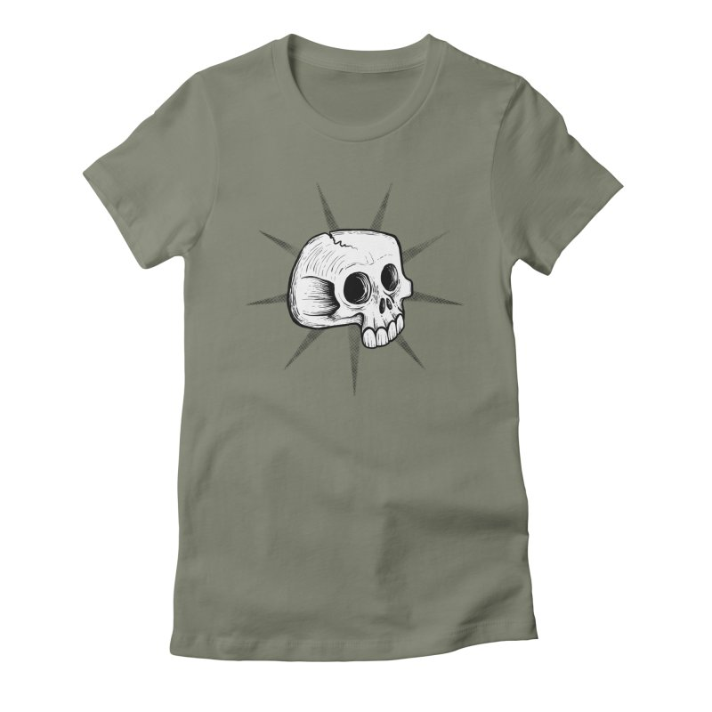 Punk Skull Women's Fitted T-Shirt by Os Frontis