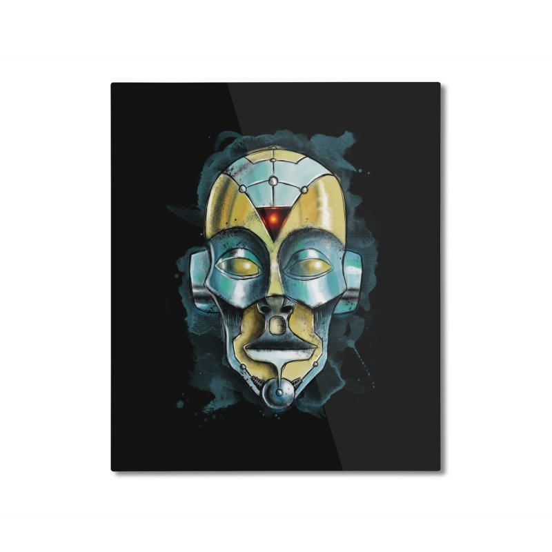 Cyber Mask Home Mounted Aluminum Print by Os Frontis