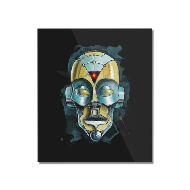 Cyber Mask Home Mounted Acrylic Print by Os Frontis