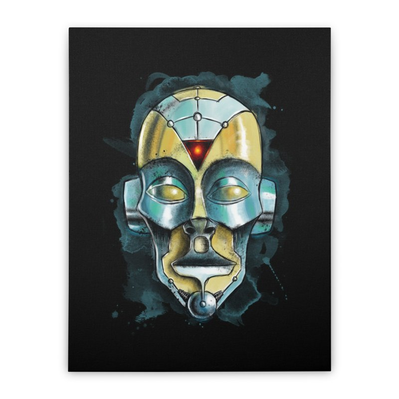 Cyber Mask Home Stretched Canvas by Os Frontis