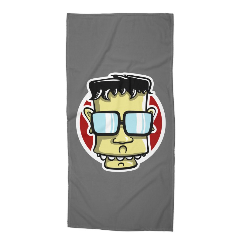 Geek Face Accessories Beach Towel by Os Frontis