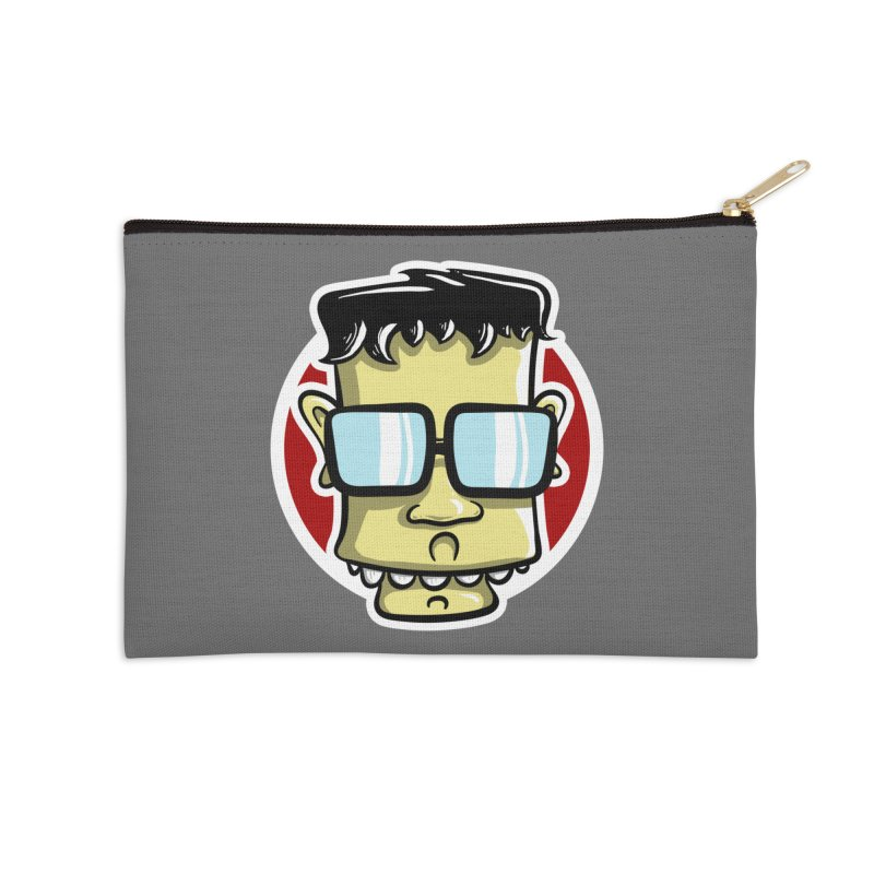Geek Face Accessories Zip Pouch by Os Frontis