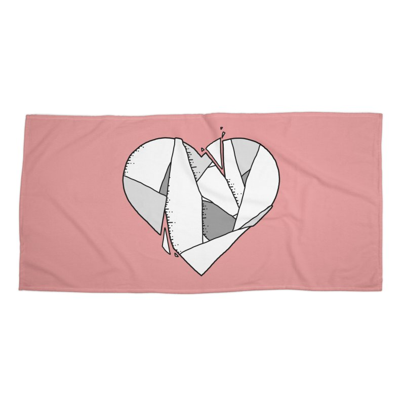 Broken Heart Accessories Beach Towel by Os Frontis