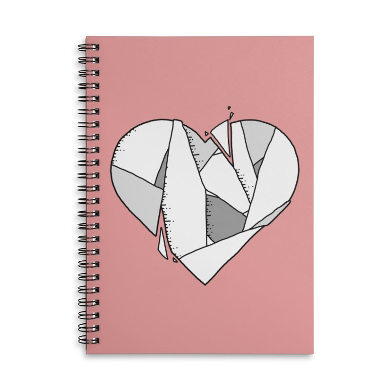 Broken Heart Accessories Notebook by Os Frontis