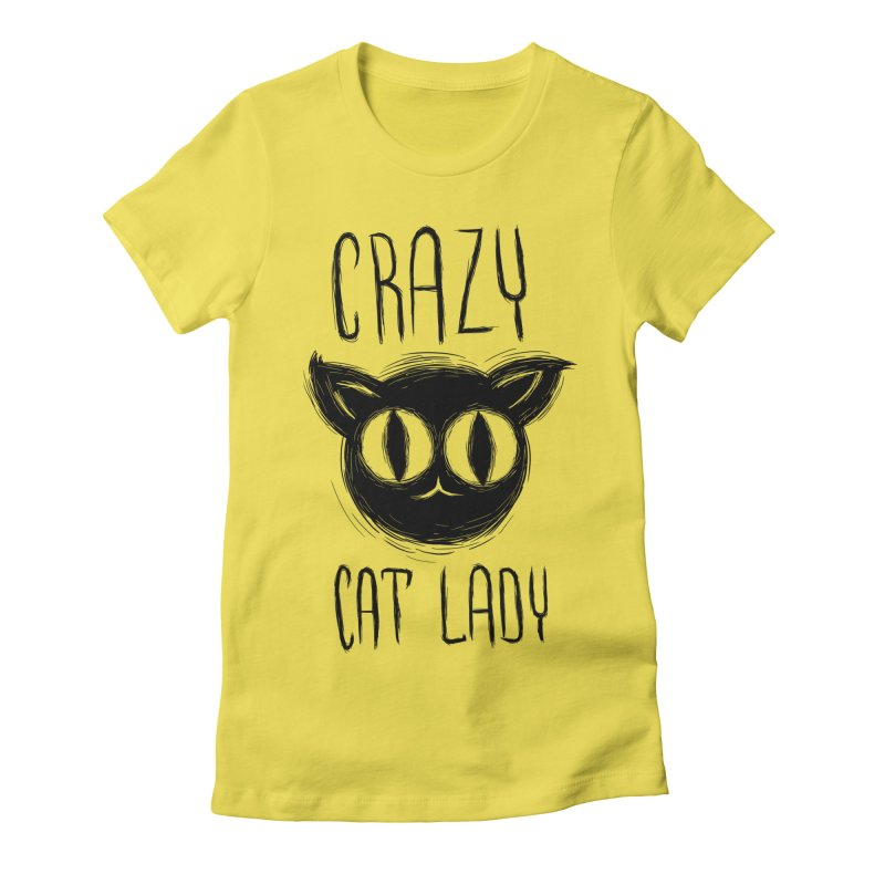 Crazy Cat Lady Women's T-Shirt by Os Frontis