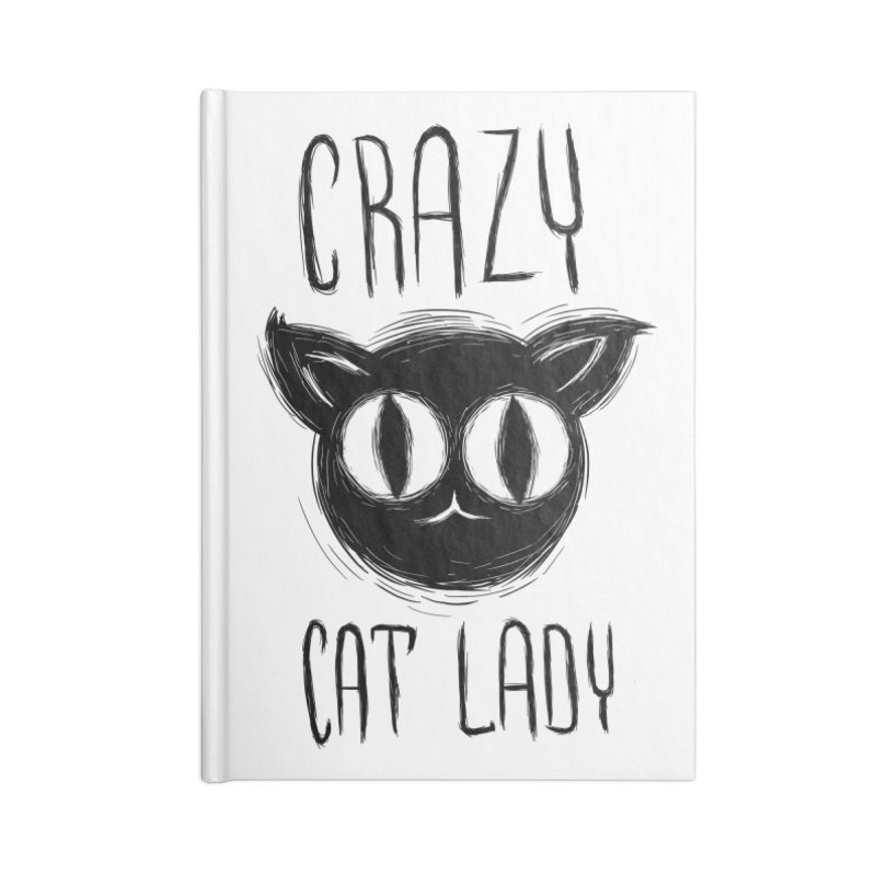 Crazy Cat Lady Accessories Notebook by Os Frontis