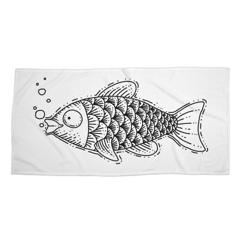 Fish Accessories Beach Towel by Os Frontis