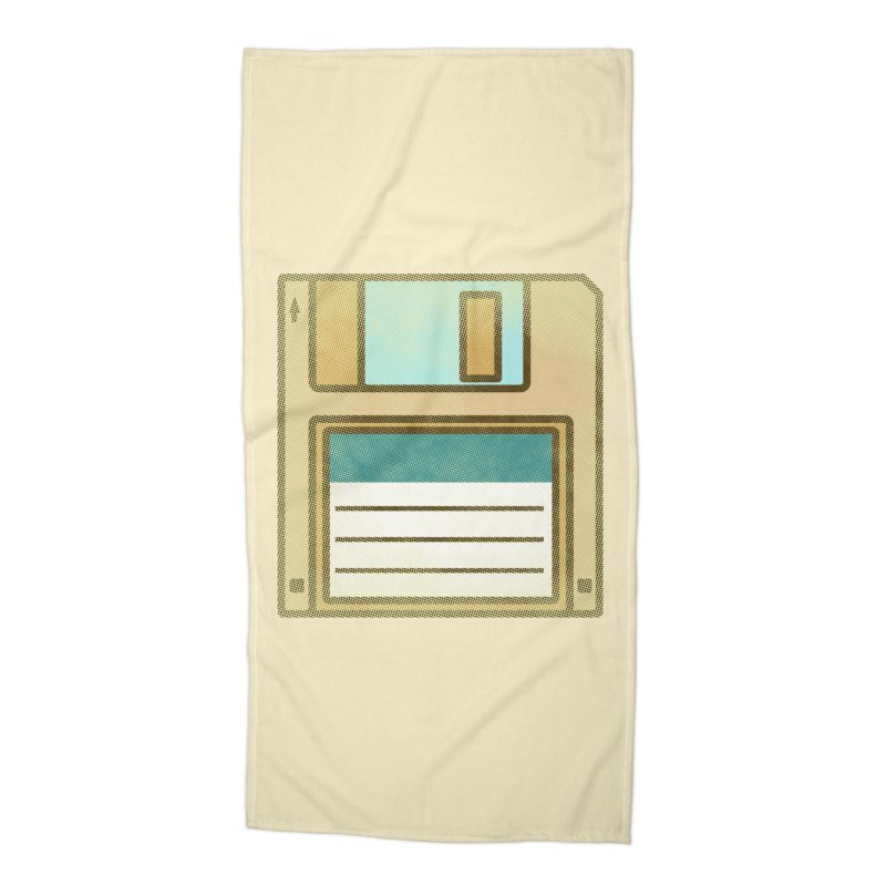 Floppy Disc Accessories Beach Towel by Os Frontis