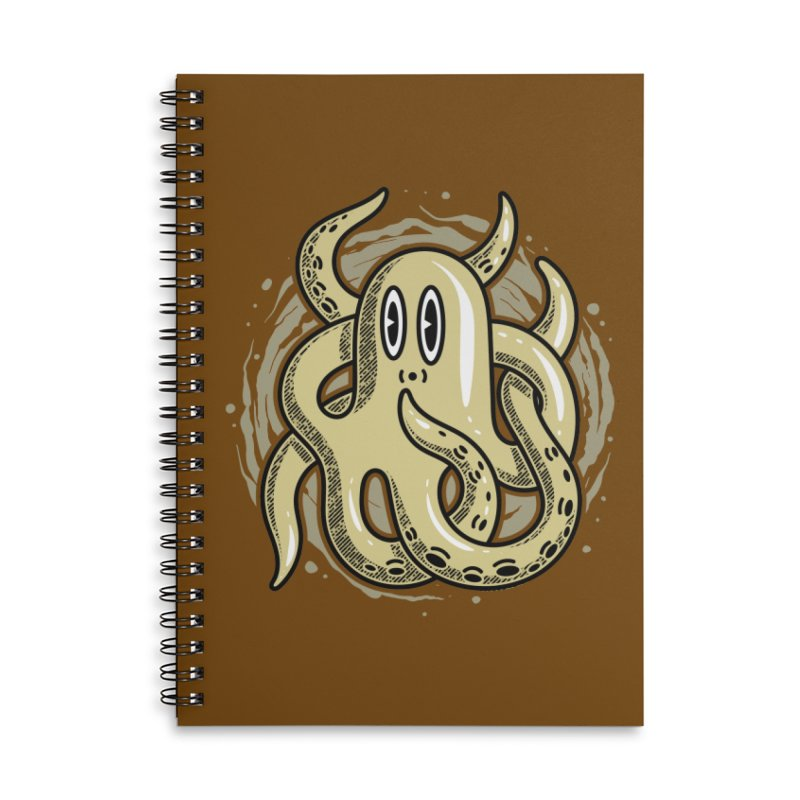 Funny Octopus Accessories Notebook by Os Frontis