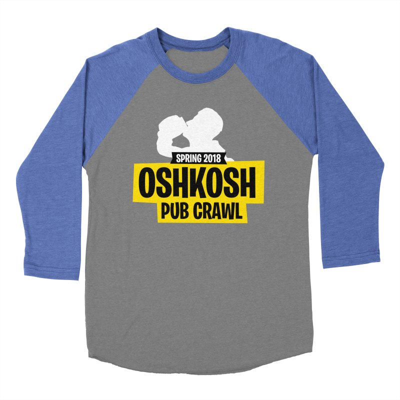 Oshkosh Royale Men's Baseball Triblend Longsleeve T-Shirt by Oshkosh Pub Crawl