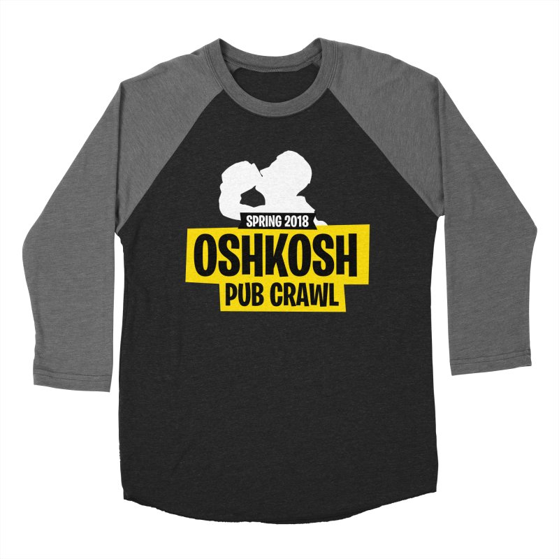 Oshkosh Royale in Men's Baseball Triblend Longsleeve T-Shirt Grey Triblend Sleeves by Oshkosh Pub Crawl