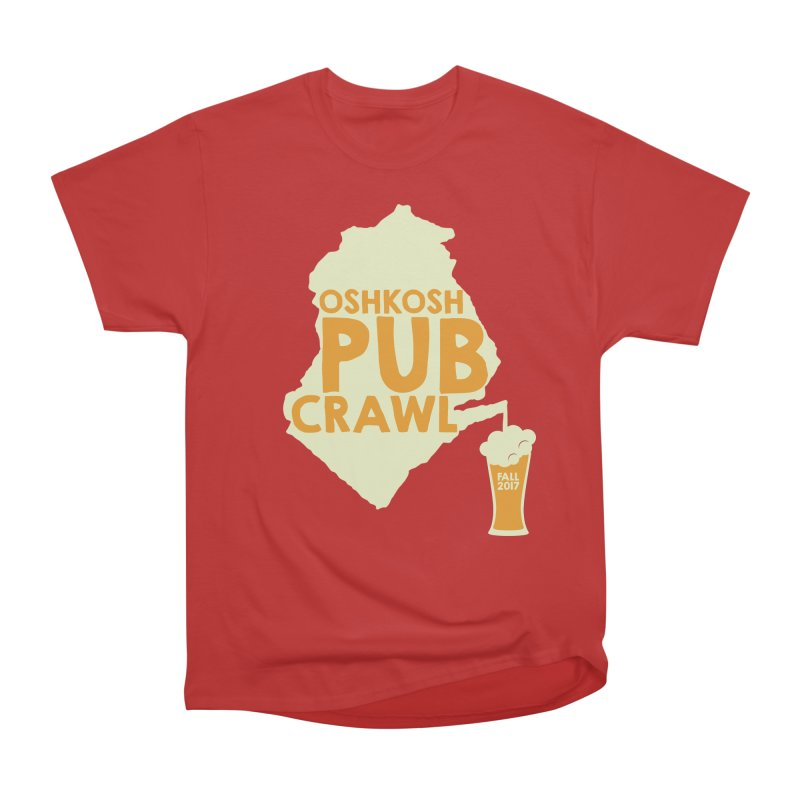 On Tap (Multiple Colors) in Men's Classic T-Shirt Red by Oshkosh Pub Crawl