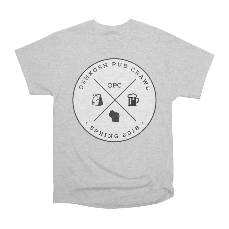 Badge Women's Heavyweight Unisex T-Shirt by Oshkosh Pub Crawl