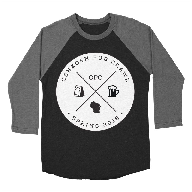 Badge Men's Baseball Triblend Longsleeve T-Shirt by Oshkosh Pub Crawl